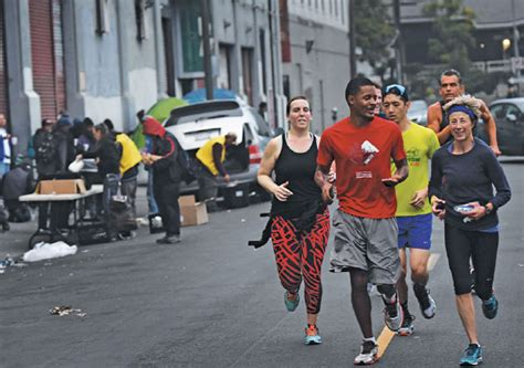 members of the midnight runners club take part in a 10