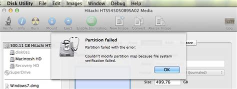 """macos - How to resolve error: """"Couldn't modify partition"""