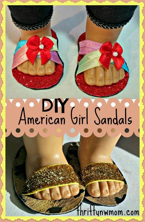 How To Make American Girl Doll Shoes / Sandals (No Sewing