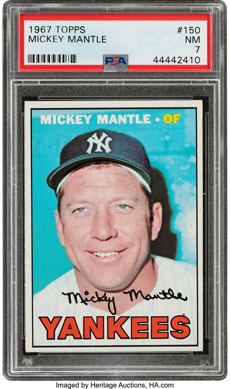 1967 Topps Mickey Mantle #150 PSA NM 7