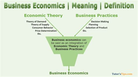 Business economics meaning and its terms - Tutor's Tips