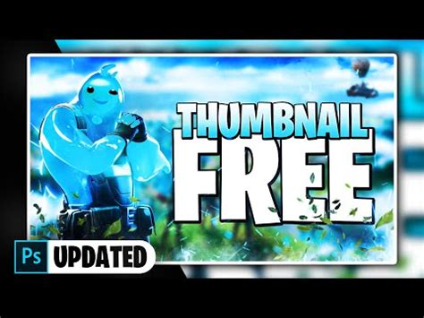 Fortnite Chapter 2 Thumbnail Template [ + PHOTOSHOP FREE