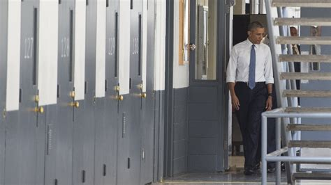 Obama Visits Federal Prison, A First For A Sitting