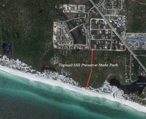 Potential beach access at west end of CR-30A discussed at