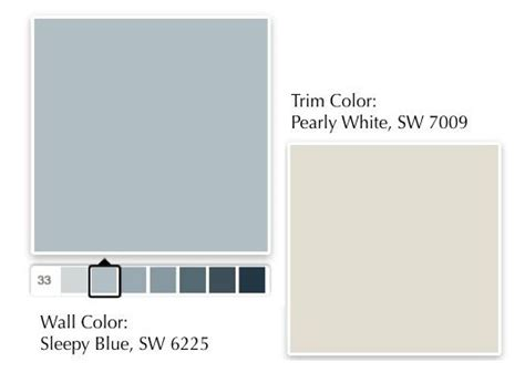1_SleepyBlue_PearlyWhite | Paint colors for home, Paint
