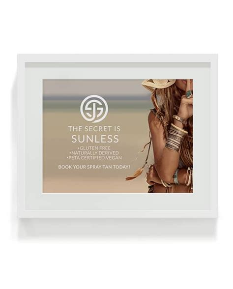 The Secret is Sunless Marketing Poster that advertises