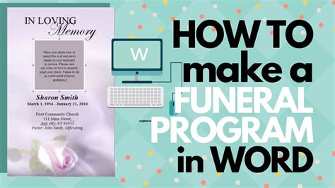 How To Customize A Funeral Program Template - YouTube