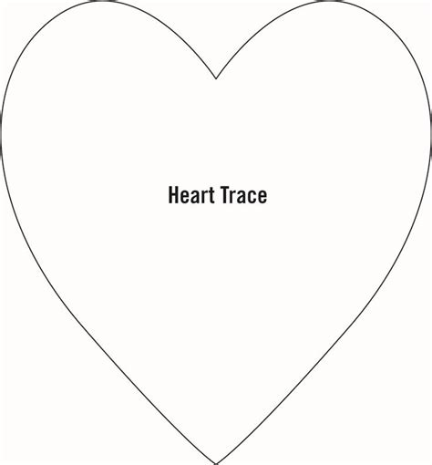 Large Heart Template | Best Quotes Collection | Printable