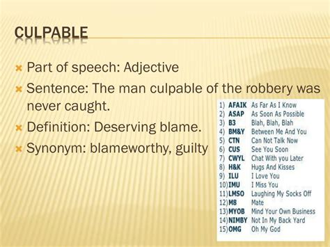 PPT - First vocab of the term PowerPoint Presentation