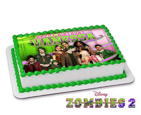 ZOMBIES 2 Topper Cake CUSTOMIZABLE for party Fast service