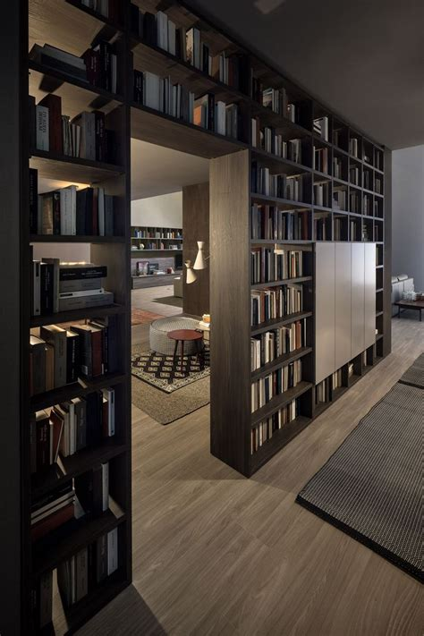 Bookcase as room divider | Home library design, Home