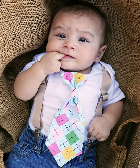 Newborn Boy Easter Outfit with Tan Suspenders and Argyle