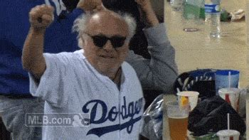 A White Haired Danny DeVito Had Some Fun At Dodger Stadium