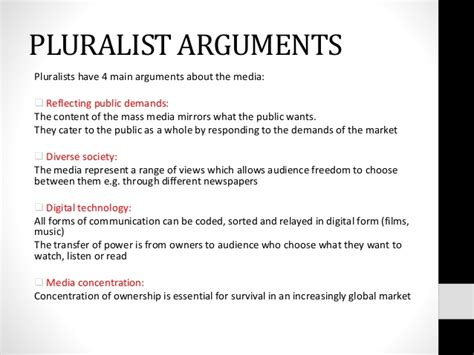 Mass media - Marxism and pluralism over view (sociology a2)