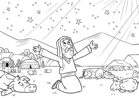 Abraham And Lot Coloring Page at GetColorings