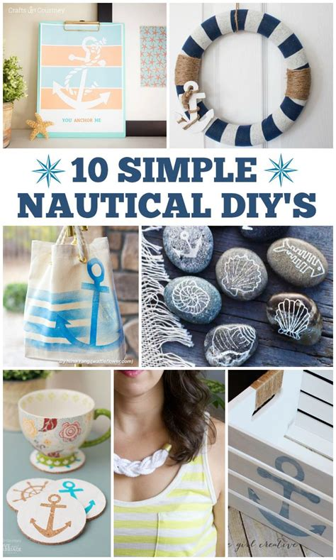 10 Simple Nautical DIY's - Love and Marriage | Nautical