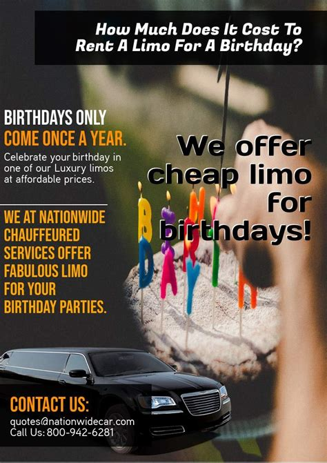 How Much Does It Cost To Rent A Limo For A Birthday - (800