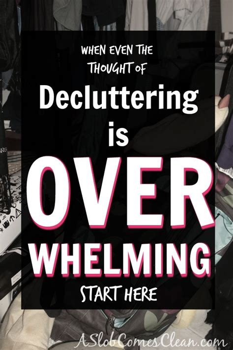 When the Thought of Decluttering is Overwhelming, Start