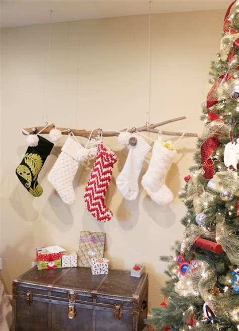 8 Festive Ways to Hang Stockings When You Don't Have a