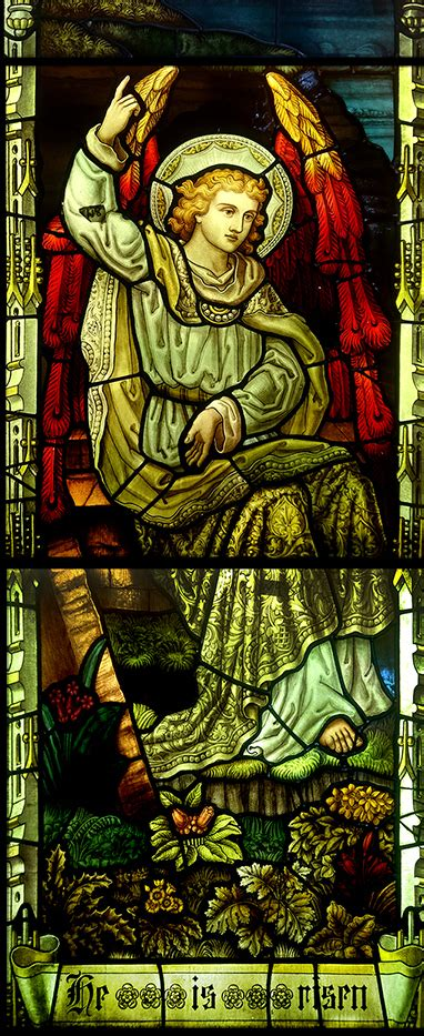 Antique Stained Glass Window Depicting Christ Rising - UK