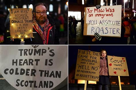 Best signs from anti- Donald Trump marches across London