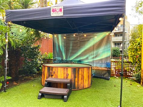 Northern Lights Hot Tub and Gazebo Package - Party