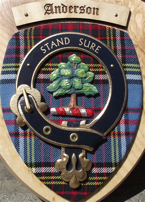 Scottish Gifts Anderson Family Clan Crest Wall Plaque   eBay