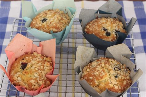 Blueberry Raspberry Muffins With Streusel Topping