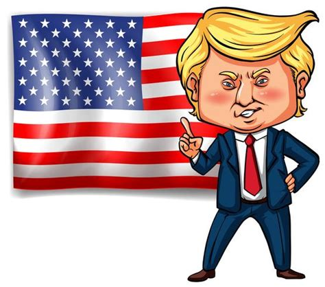 US president Trump with American flag in background 433229