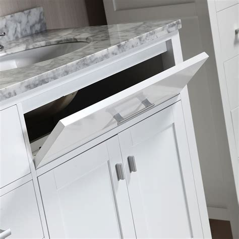 London 72″ Double Sink Vanity Set in White with two