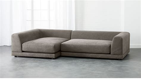 uno 2-piece low sectional sofa + Reviews   CB2