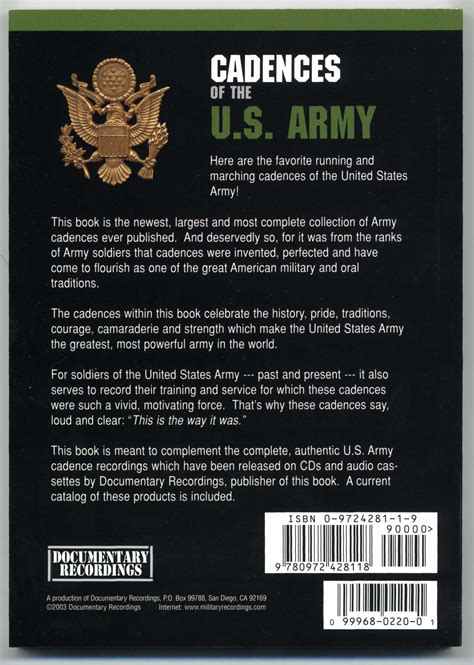 Cadences of the US Army (2003)