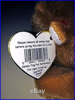 Ty Beanie Baby, Roary The Lion, With Rare Tag Errors