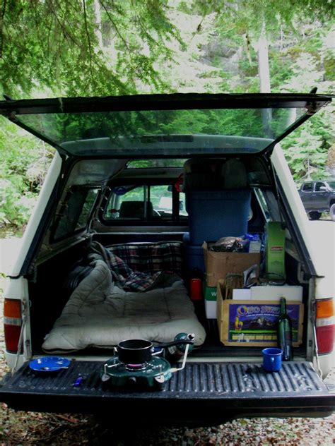 My space! | Truck camping, Truck living, Truck bed camping