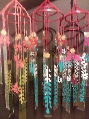 LOT OF 3 Japanese Chinese glass wind chimes vintage style