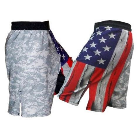 USA Flag & ACU MMA Fight Shorts - BlankMMA A Division of