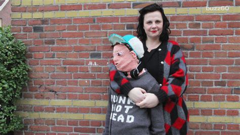 Mom knits creepy life-size replica of her son