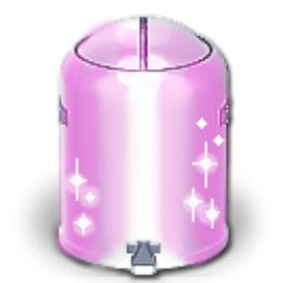 Sparkly Pink Recycling Bin EMPTY Icon