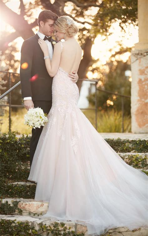 Fit and Flare Wedding Dress with Low-Cut Back | Essense of
