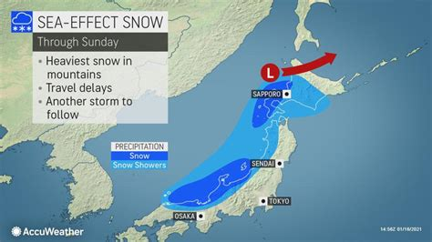 More sea-effect snow in Japan's forecast   AccuWeather