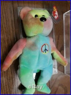Extremely rare 1996 Ty Beanie baby Babies Peace Bear with