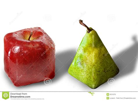 Square fruits stock image