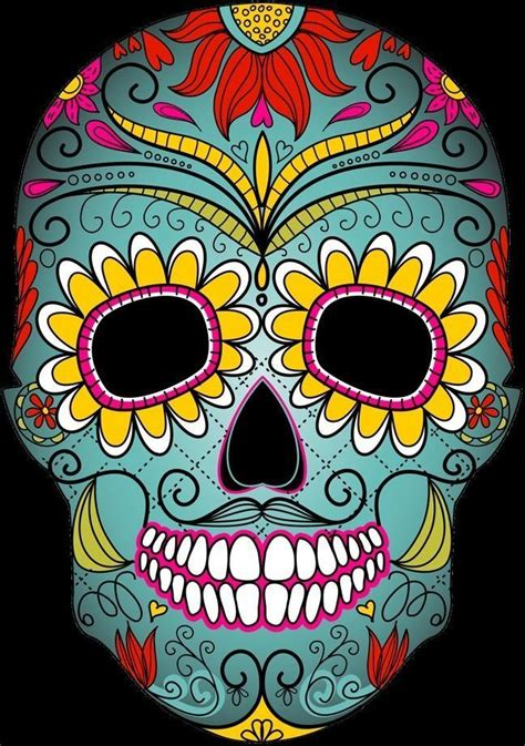 3D Day of the Dead skull mask | CGTrader