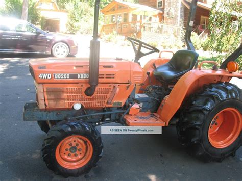 Kubota Diesel B8200 4wd Tractor, 3 Cylinder, 19 Hp, With