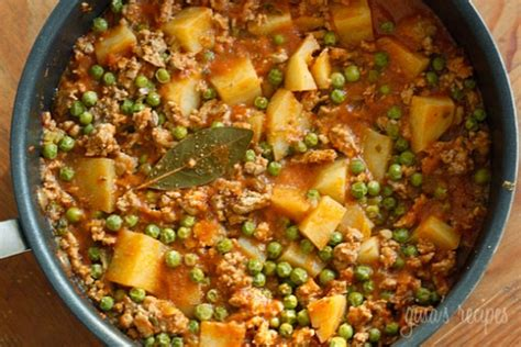 Ground Turkey with Potatoes and Spring Peas   KeepRecipes