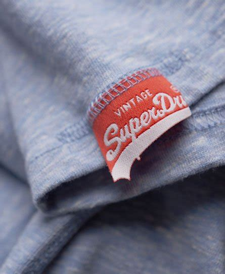 Mens - Sport Club T-shirt in Heather Blue | Superdry