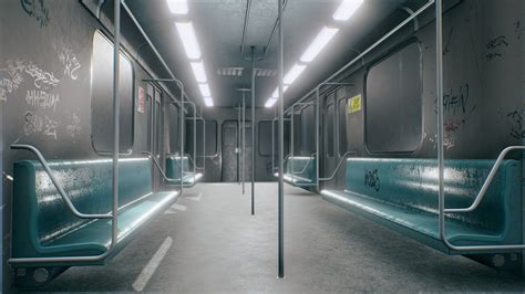 Subway train interior - Buy Royalty Free 3D model by Lukas