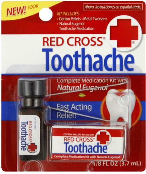 Red Cross Toothache Complete Medication Kit 0